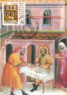"""VATICAN CARTE MAXIMUM NUM.YVERT 1237 ART PEINTURE DE CARLO DI CAMERINO  """"OEUVRES DE BIENFAISANCES"""" - Cartoline Maximum"""