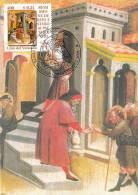 """VATICAN CARTE MAXIMUM NUM.YVERT 1238 ART PEINTURE DE CARLO DI CAMERINO  """"OEUVRES DE BIENFAISANCES"""" - Cartoline Maximum"""