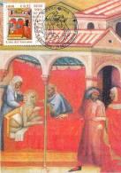 """VATICAN CARTE MAXIMUM NUM.YVERT 1240 ART PEINTURE DE CARLO DI CAMERINO  """"OEUVRES DE BIENFAISANCES"""" - Cartoline Maximum"""