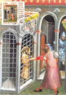"""VATICAN CARTE MAXIMUM NUM.YVERT 1241 ART PEINTURE DE CARLO DI CAMERINO  """"OEUVRES DE BIENFAISANCES"""" - Cartoline Maximum"""