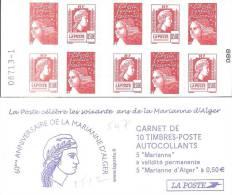 """CARNET 1512, Mixte """"soixante Ans De La Marianne D'Alger"""" Nappe 1. Bas Prix, à Saisir. - Carnets"""