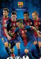 F.C.Barcelona Super Postcard Collector - Super Postcard Grand Format  A4 Size:22x30 Cm. Aprox. - Afiches