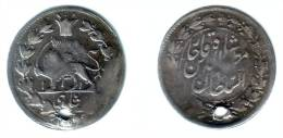 PERSIA ( IRAN ), Muzaffar Al-Din - Shahi Sefid AH 1318 (1900) - KM#965 Y#25 VF, Holed - Iran