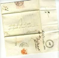 DC151-STATO CHIESA 1820 Lettera Contenuto  MONTESANTO-MORROVALLE V.LORETO-timbro ROSSO MONTESANTO Lineare CARTELLA - Italia