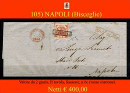 Bisceglie-00105 - Piego (senza Testo) - Combinazione Di Bollature Con Il 2 Grana, II Tavola - - Napoli