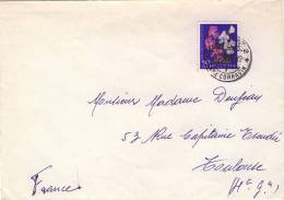 Lettre De Geneve  Pré Cornavin Avec N°YT 638 - Pro Juventute