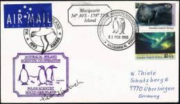 ANTARCTIC,ANARE 1993,MACQUARIE IS., Australia-Poland Cooperation,Polish Scientist In Antarctica + Signature!! - Poolfilatelie