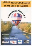 Ref 106   : CPM PROMO Pub Avion Aviation Cart'com Nantes Montgolfières Parc De La Chantrerie - Montgolfières