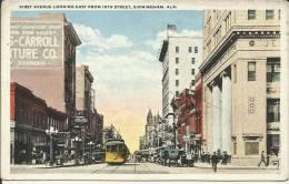 ETATS UNIS . BIRMINGHAM. ALA. FRIST AVENUE LOOKING EAST FROM 19TH STREET . TRAMWAY - Etats-Unis