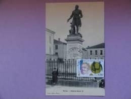 CARTE MAXIMUM MAXIMUM CARD STATUE HENRI IV SUR CPA NERAC FRANCE - 1990-99