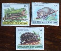 GRENADINES ST VINCENT Tortue + Reptile (Yvert N° 159/61) Neuf Sans Charniere. MNH - Reptiles & Batraciens