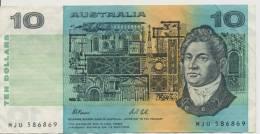 AUSTRALIA P. 45g 10 D 1991 VF - 1974-94 Australia Reserve Bank