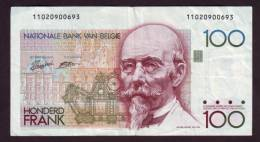 BELGIEN - BELGIUM - 100 Francs 1982-94 - SCWPM- P-142a - 100 Francs