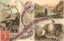 65 LOURDES Souvenir Du Jubilé De Bernadette 1858-1908 - Lourdes
