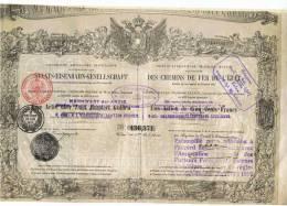 STE AUTRICHIENNE, IMPERIALE,ROYALE DES CHEMINS DE FER DE L'ETAT (1872) - Railway & Tramway