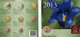 EURO-Blister Österreich Euromünzensatz Enzian 2013 Stg 40€ Stempelglanz Münzen 0,01-2,00 Handgehoben Set Coin Of Austria - Autriche