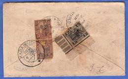 MALAYA / MALAYSIA 1931 - Reco Brief Von Kuala Lumpur Nach Karaikudi S.India, 3 Fach Frankierung Mit Randstücken - Federation Of Malaya