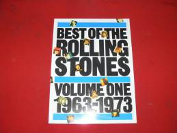 PARTITIONS BEST OF THE ROLLING STONES VOLUME ONE 1963/1973   VALEUR 28. EUROS - Musique & Instruments