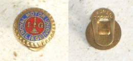 ROYAL MOTOR UNION - LIEGE , BELGIUM  ( Vintage Enamel Buttonhole Pin ) * Belgie Badge Distintivo Anstecknadel - Apparel, Souvenirs & Other