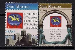 2006 San Marino Mi. 2270-1 **MNH - Unused Stamps