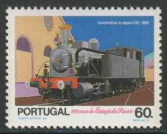 Portugal 1990 Mi 1843 YT 1822 ** Steam Locomotive No. 010 (1891) / Dampflokomotive Baureihe 010 - Rossio Railway - Treinen
