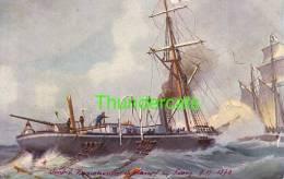 CPA ILLUSTRATEUR CHRISTOPHER RAVE BATEAU MARINE GALERIE ** No 4 METEOR BOUVET ** ARTIST SIGNED CARD CHR RAVE BOAT - Barche