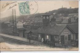 GRAVILLE SAINTE HONORINE - Vue Panoramique Et La Gare - Non Classés