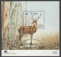 Portugal 1991 B77 - Mi 1861 ** Cervus Elaphus : Red Deer / Rothirsch /  Cerf élaphe - Serra De Sao Mamede - Blokken & Velletjes