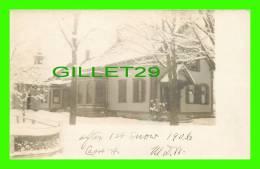 CABOT, VT - FIRST SNOW IN 1906 - UNDIVIDED - WRITTEN - - Etats-Unis