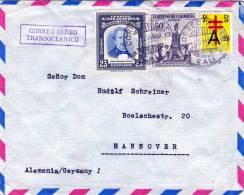 COLOMBIA, Brief 1954, Schöne 3 Fach Frankierung - Kolumbien