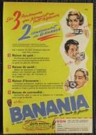 LOT DE 5 Pub Papier 1950 /60 Toutes Différentes  BANANIA Y´a Bon Petit Dejeuner Sucré Chocolat - Advertising