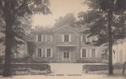 33 CHATEAU CORBIN  ( St EMILION )  Bâtiment Et Cour En 1926 - France