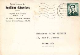 Houillières D'ANDERLUES - Courrier Adréssé à Mr Jules Fytvoye Rue Paul Janson,14 Anderlues - Anderlues