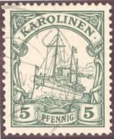 Deutsche Post Auf Den Karolinen Mi#8 Stempel Angaur - Colonie: Carolines