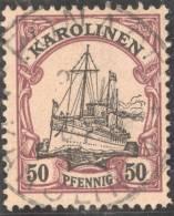 Deutsche Post Auf Den Karolinen Mi#14 Vollstempel - Colonie: Carolines