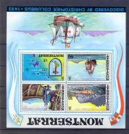 Montserrat 1973, S/S Ships, Columbus MNH, Mibl 3, INVERTED WM !. Cv +40 Euro - Montserrat