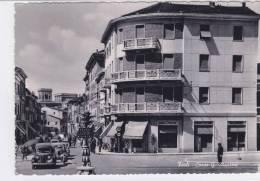 """CARD FORLI CORSO MAZZINI ANIMATO CON AUTO LANCIA -MOTO """"GALLETTO"""" -FG-V-2---0882-14878 - Forlì"""