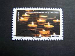 FRANCE OBLITERE 2012 N° 759  BOUGIES FETE DU TIMBRE: LE FEU SERIE DU CARNET AUTOCOLLANT ADHESIF - France