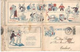 Exceptionnelle Carte Lettre ANTI ALLEMANDE Et ANTI BOLCHEVIQUE - Satira