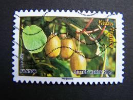 FRANCE OBLITERE 2012 N° 690  KIWIS SERIE DU CARNET DES FRUITS POUR UNE LETTRE VERTE AUTOCOLLANT ADHESIF - France
