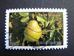 FRANCE OBLITERE 2012 N° 697  POIRE WILLIAM SERIE DU CARNET DES FRUITS POUR UNE LETTRE VERTE AUTOCOLLANT ADHESIF - France