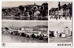 EUROPE SLOVENIA MARIBOR 4 FOTOS CITY AREAS FOLDED OLD POSTCARD 1962. - Slovenia