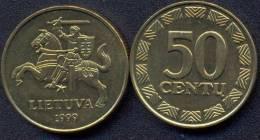Lithuania 50 Centu 1999 XF+ - Litauen