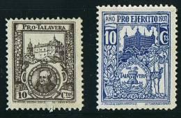 TALAVERA DE LA REINA (Toledo) Pro Talavera 10 Cts * Y Pro Ejercito 10 Cts * - Spanish Civil War Labels
