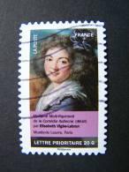 FRANCE OBLITERE 2012 N° 678 ELISABETH VIGEE LEBRUN SERIE CARNET PORTRAITS DE FEMMES DANS LA PEINTURE AUTOCOLLANT ADHESIF - France