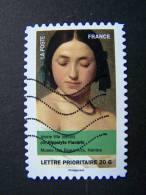 FRANCE OBLITERE 2012 N° 684  HIPPOLYTE FLANDRIN SERIE DU CARNET PORTRAITS DE FEMMES DANS LA PEINTURE AUTOCOLLANT ADHESIF - France