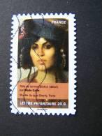 FRANCE OBLITERE 2012 N° 676  MARIE CAIRE SERIE DU CARNET PORTRAITS DE FEMMES DANS LA PEINTURE AUTOCOLLANT ADHESIF - France