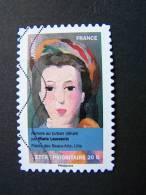 FRANCE OBLITERE 2012 N° 677  MARIE LAURENCIN SERIE DU CARNET PORTRAITS DE FEMMES DANS LA PEINTURE AUTOCOLLANT ADHESIF - France