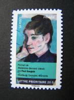 FRANCE OBLITERE 2012 N° 683  PAUL GAUGUIN SERIE DU CARNET PORTRAITS DE FEMMES DANS LA PEINTURE AUTOCOLLANT ADHESIF - France