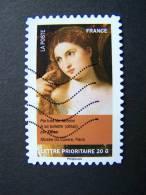 FRANCE OBLITERE 2012 N° 682  TITIEN SERIE DU CARNET PORTRAITS DE FEMMES DANS LA PEINTURE AUTOCOLLANT ADHESIF - France